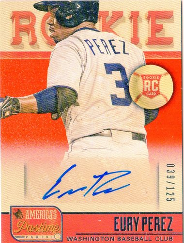 Photo of 2013 Panini America's Pastime #263 Eury Perez AU RC