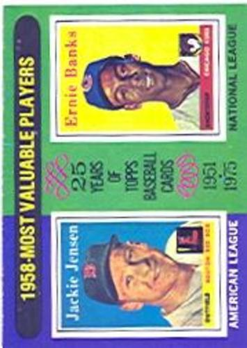 Photo of 1975 Topps #196 Jackie Jensen/Ernie Banks MVP