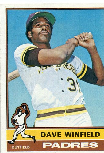 Photo of 1976 Topps #160 Dave Winfield Hall of Famer