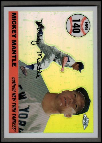 Photo of 2006 Topps Chrome Mantle Home Run History White Refractors #MHRR140 Mickey Mantle