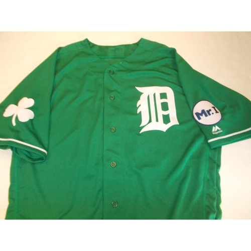 Photo of Grayson Greiner St. Patrick's Day Jersey