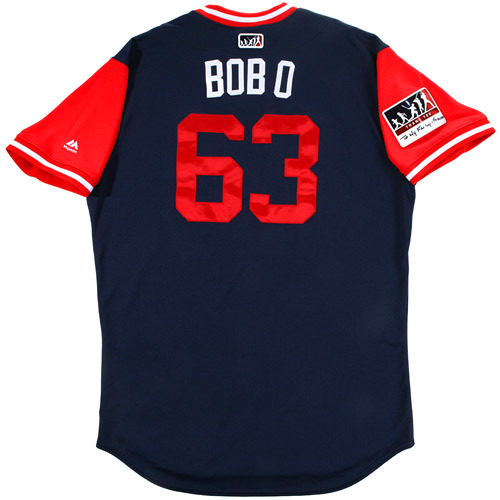 """Photo of Robby """"Bob O"""" Scott Boston Red Sox Game-Used Players Weekend Jersey"""