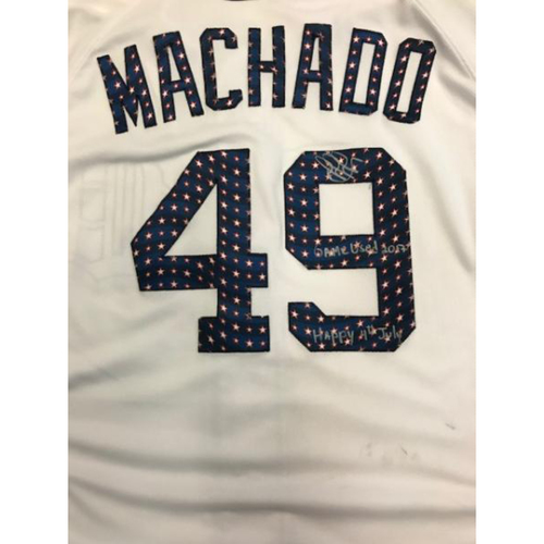 Photo of Autographed Game-Used Stars and Stripes Jersey: Dixon Machado