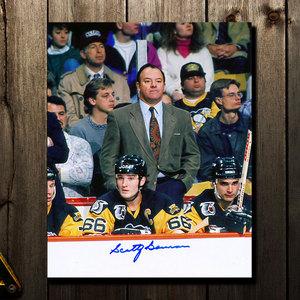Scotty Bowman Pittsburgh Penguins COACH Autographed 8x10