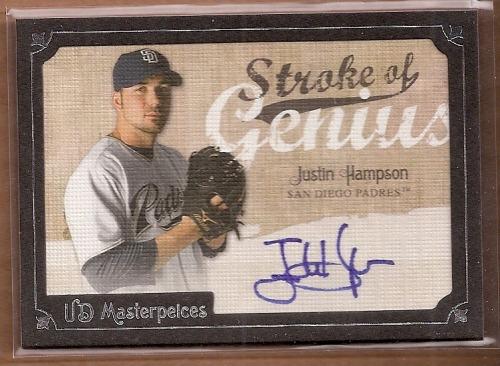 Photo of 2007 UD Masterpieces Stroke of Genius Signatures #HA Justin Hampson