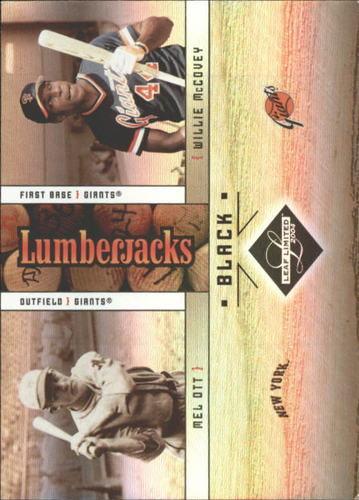 Photo of 2004 Leaf Limited Lumberjacks Black #50 M.Ott/W.McCovey