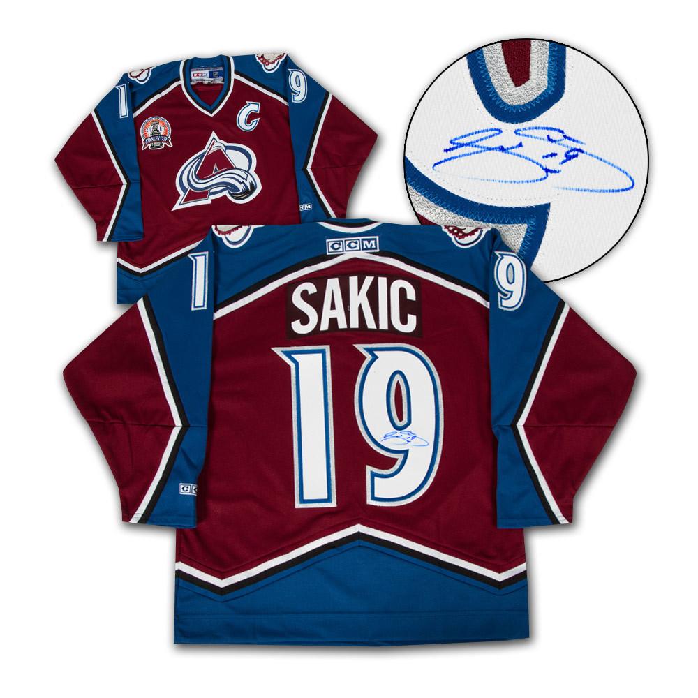 Joe Sakic Colorado Avalanche Autographed Stanley Cup Retro CCM Hockey Jersey