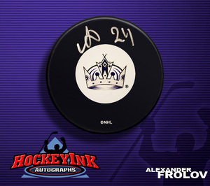 ALEXANDER FROLOV Signed Los Angeles Kings Puck