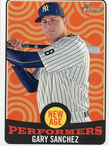 Photo of 2017 Topps Heritage New Age Performers #NAP19 Gary Sanchez