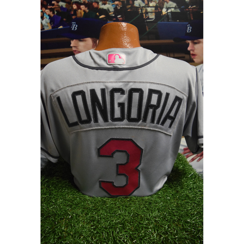 Photo of Game-Used Mother's Day Jersey: Evan Longoria