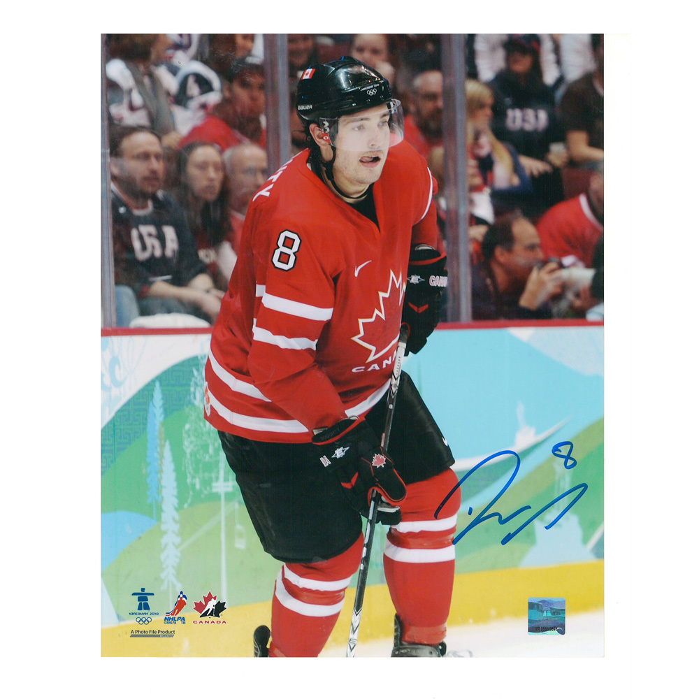 DREW DOUGHTY Signed Team Canada 2010 8 X 10 Photo - Los Angeles Kings - 70467
