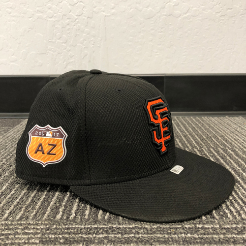Photo of San Francisco Giants - HOLIDAY STEALS - 2017 Game-Used Cap - Spring Training - worn by #47 Johnny Cueto - (Size: 8)