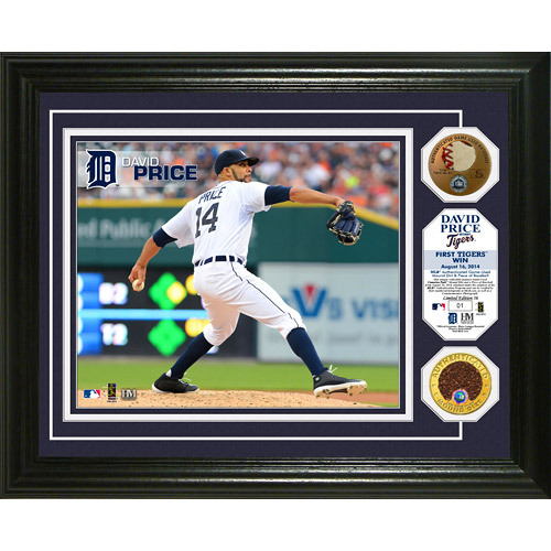 Detroit Tigers David Price 1st Detroit Tigers Win Commemorative Plaque