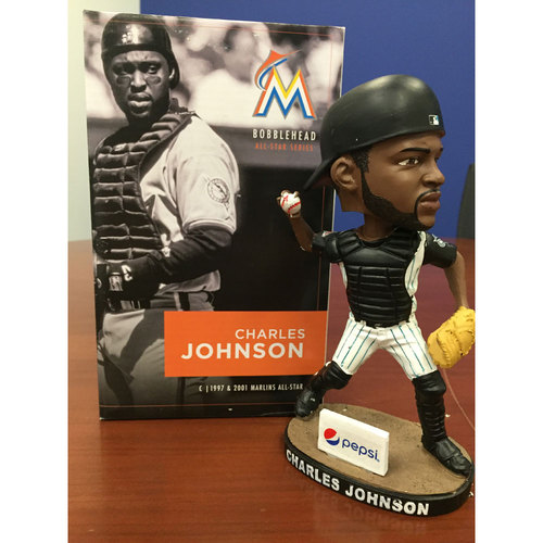 Photo of Marlins Charity Auction, Charles Johnson Bobblehead