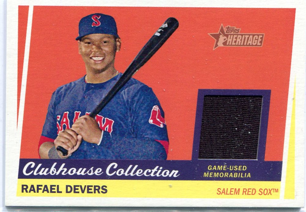 2016 Topps Heritage Minors Clubhouse Collection Relics Rafael Devers