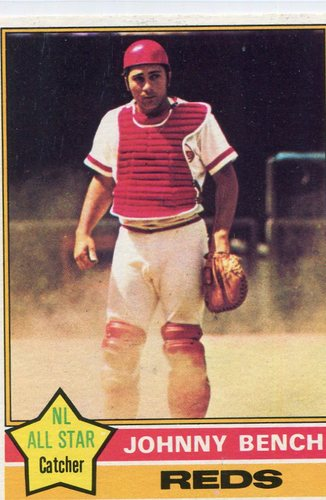 Photo of 1976 Topps #300 Johnny Bench -- Hall of Famer
