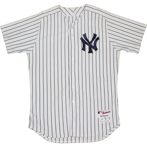 Photo of Andrew Miller Jersey - NY Yankees 2015 Game-Used #48 Pinstripe Jersey 9/13/2015 (Size 48)