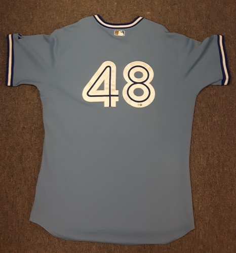 Photo of Authenticated Game Used Jersey - #48 Scott Richmond (April 17, 2009 vs Oakland)