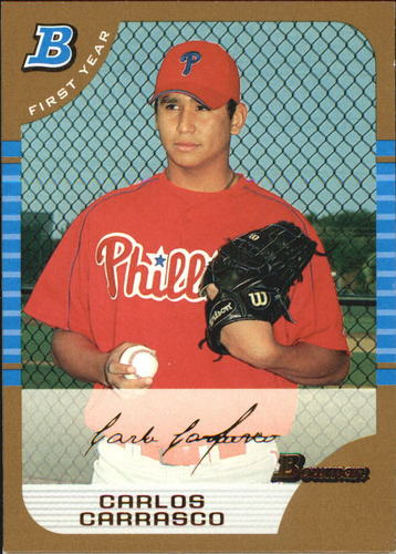 Photo of 2005 Bowman Gold #313 Carlos Carrasco  -- Indians post-season