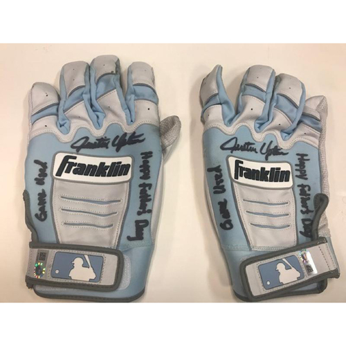 Photo of Autographed Player Collected Justin Upton Gloves