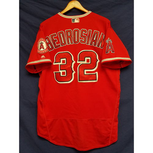 Photo of Cam Bedrosian Game-Used Alternate Red Jersey