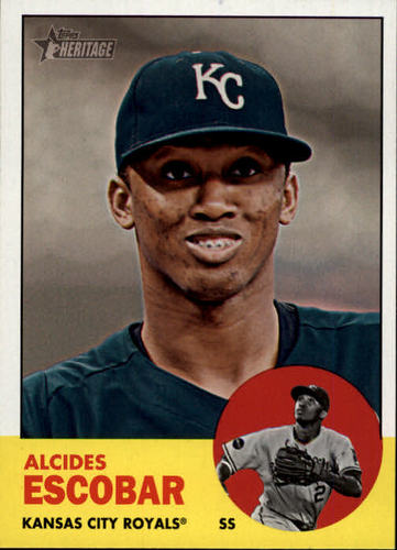 Photo of 2012 Topps Heritage #124 Alcides Escobar