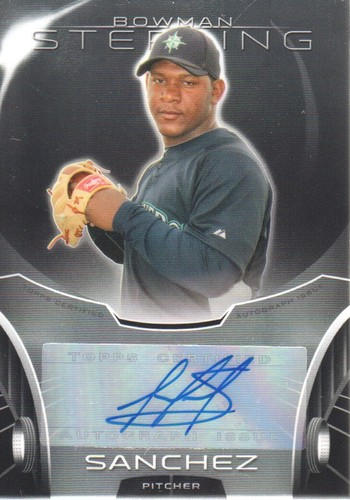 Photo of 2013 Bowman Sterling Prospect Autographs #VS Victor Sanchez