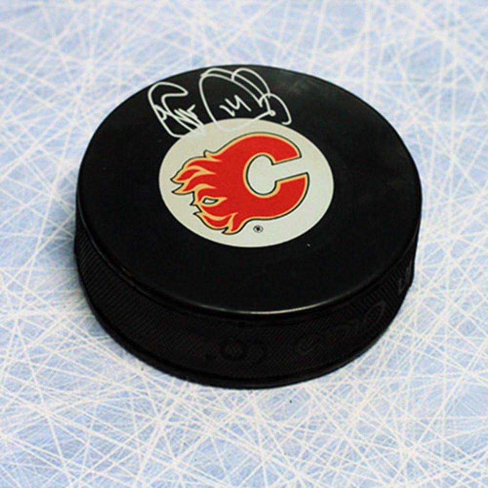 Theo Fleury Calgary Flames Autographed Hockey Puck
