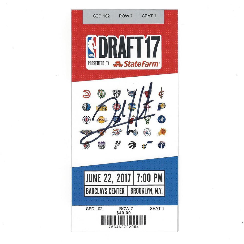 Josh Hart - Los Angeles Lakers - 2017 NBA Draft - Autographed Draft Ticket