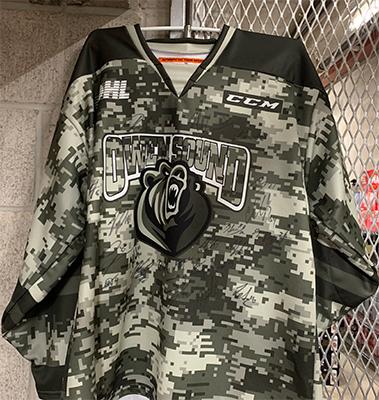 Team Autographed Military Appreciation Jersey