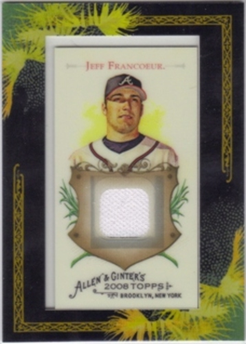 Photo of 2008 Topps Allen and Ginter Relics #JF Jeff Francoeur Jsy C