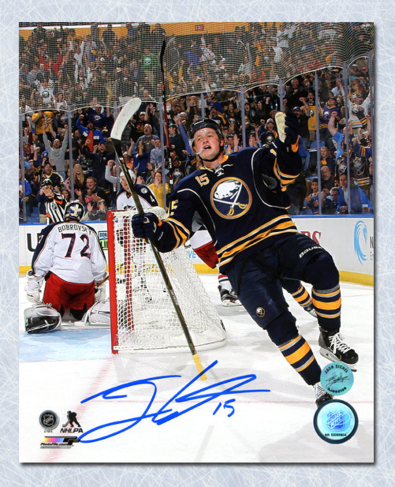 Jack Eichel Buffalo Sabres Autographed Goal Celebration 8x10 Photo