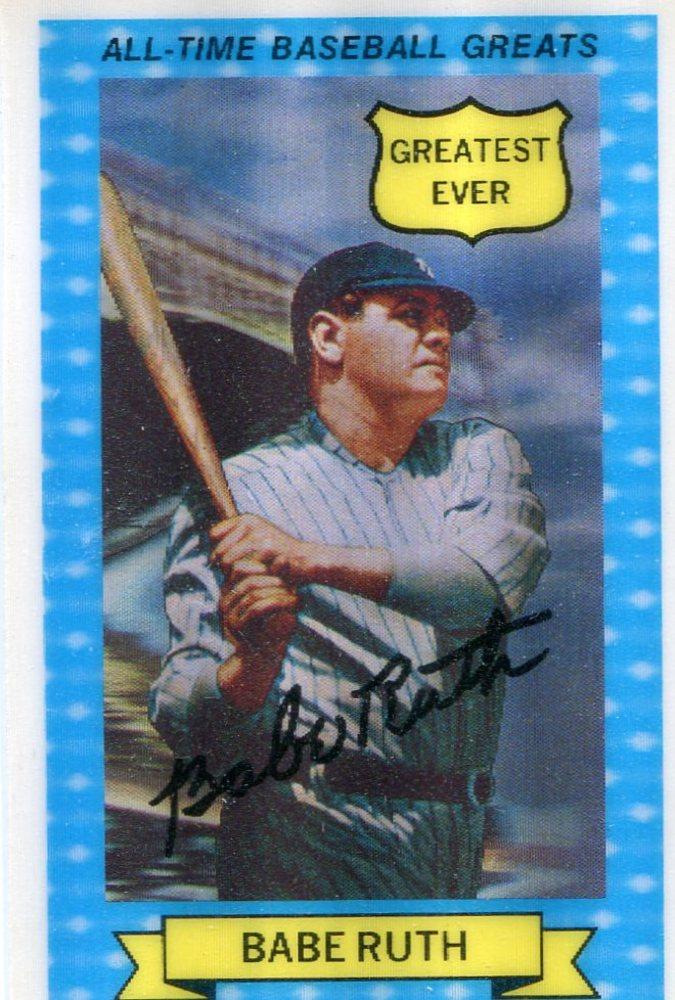 1972 Kellogg's ATG #14 Babe Ruth -- Hall of Famer Yankees