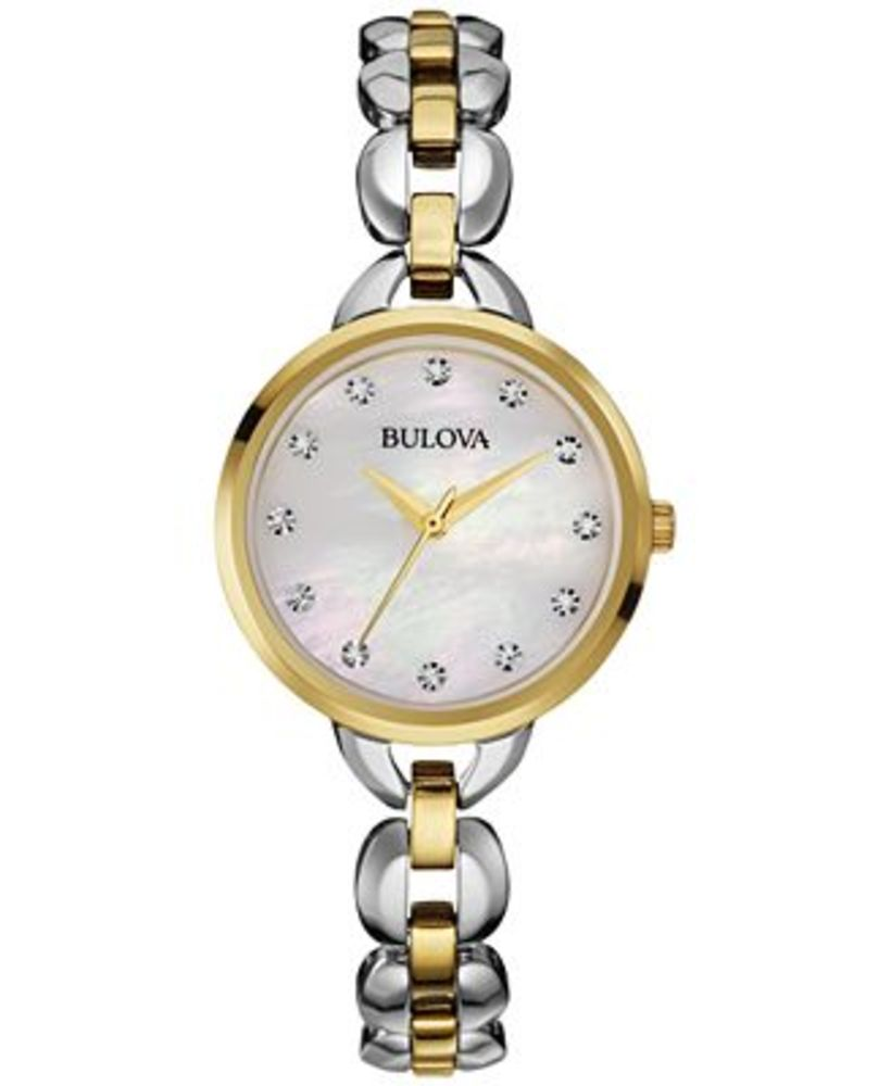 Bulova Women's Two-Tone Stainless Steel Bracelet Watch 28mm 98L208