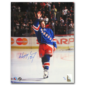 Wayne Gretzky Autographed New York Rangers 11X14 Photo - #43/99