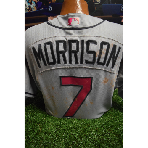 Photo of Game-Used Mother's Day Jersey: Logan Morrison