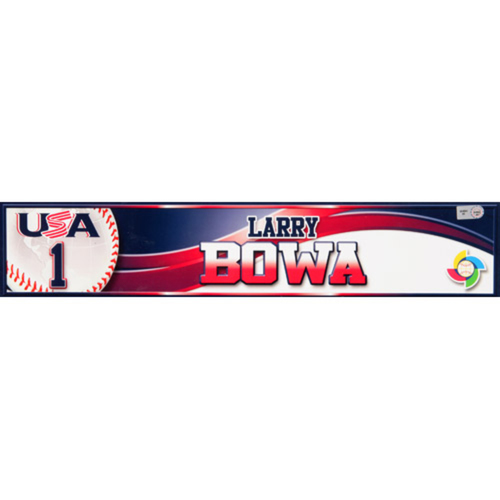 Photo of 2013 WBC: USA Game-Used Locker Name Plate - #1 Larry Bowa