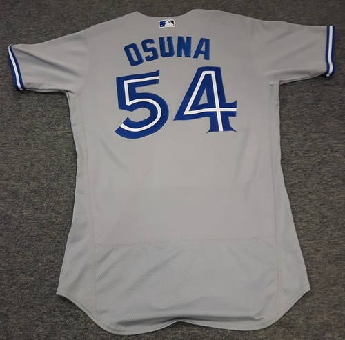 Photo of Authenticated Team Issued Jersey - #54 Roberto Osuna (2017 Season). Size 42.