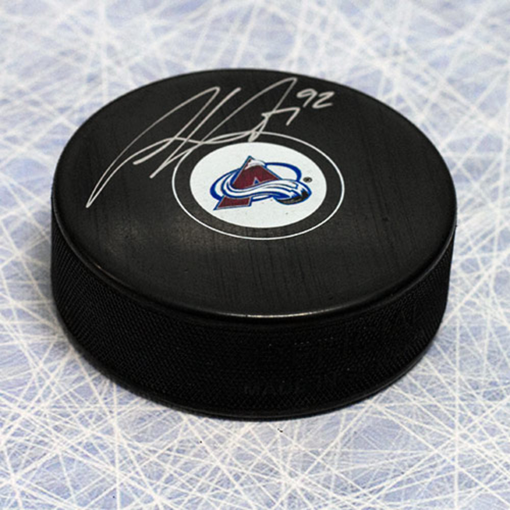 Gabriel Landeskog Colorado Avalanche Autographed Hockey Puck