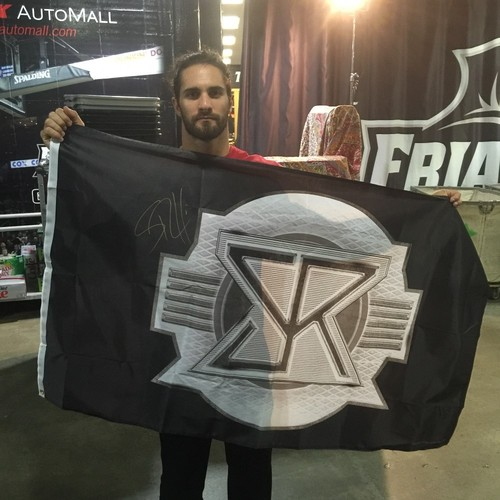 Photo of Seth Rollins SIGNED Flag