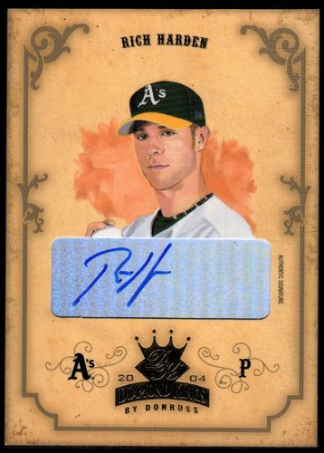 Photo of 2004 Diamond Kings DK Signatures Gold #32 Rich Harden/50