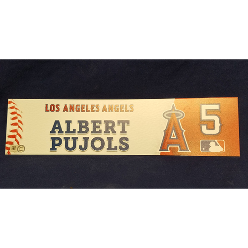 Photo of Albert Pujols Game-Used Locker Tag
