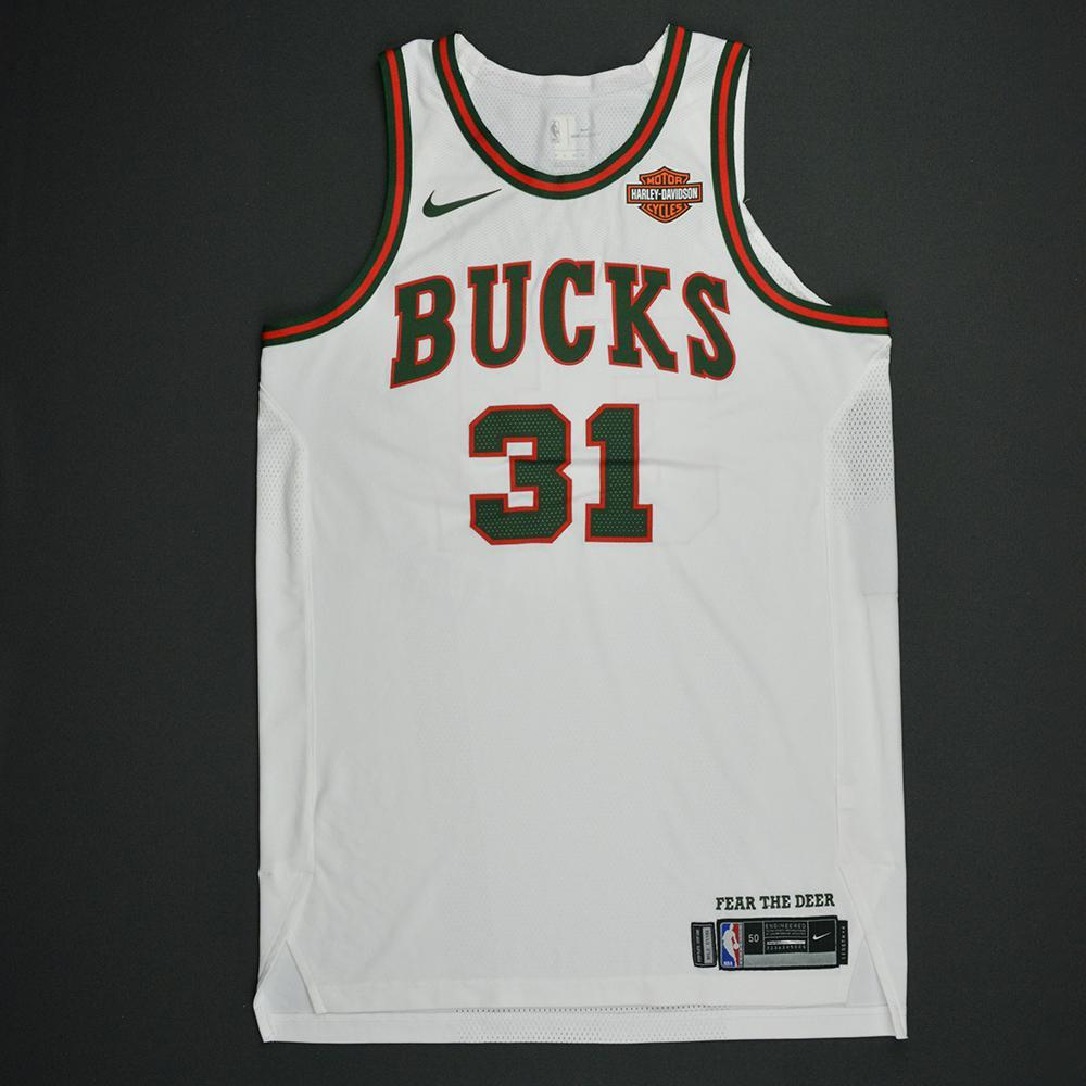 John Henson - Milwaukee Bucks - Hardwood Classics 1968-69 Home Style Game-Worn Jersey - 2017-18 Season
