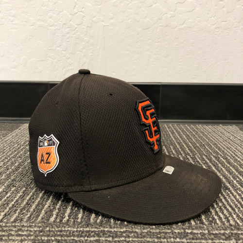 Photo of San Francisco Giants - HOLIDAY STEALS - 2017 Game-Used Cap - Spring Training - worn by #9 Brandon Belt - (Size: 7 1/8)