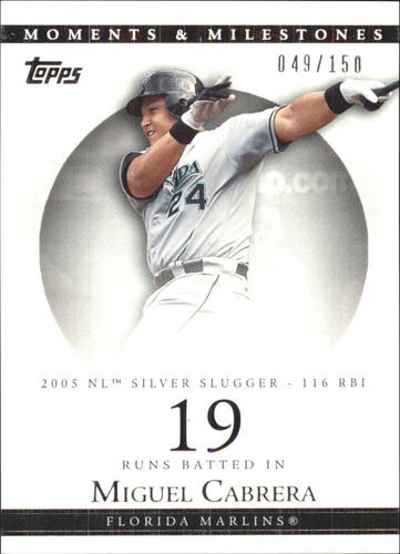 Photo of 2007 Topps Moments and Milestones #110-19 Miguel Cabrera/RBI 19