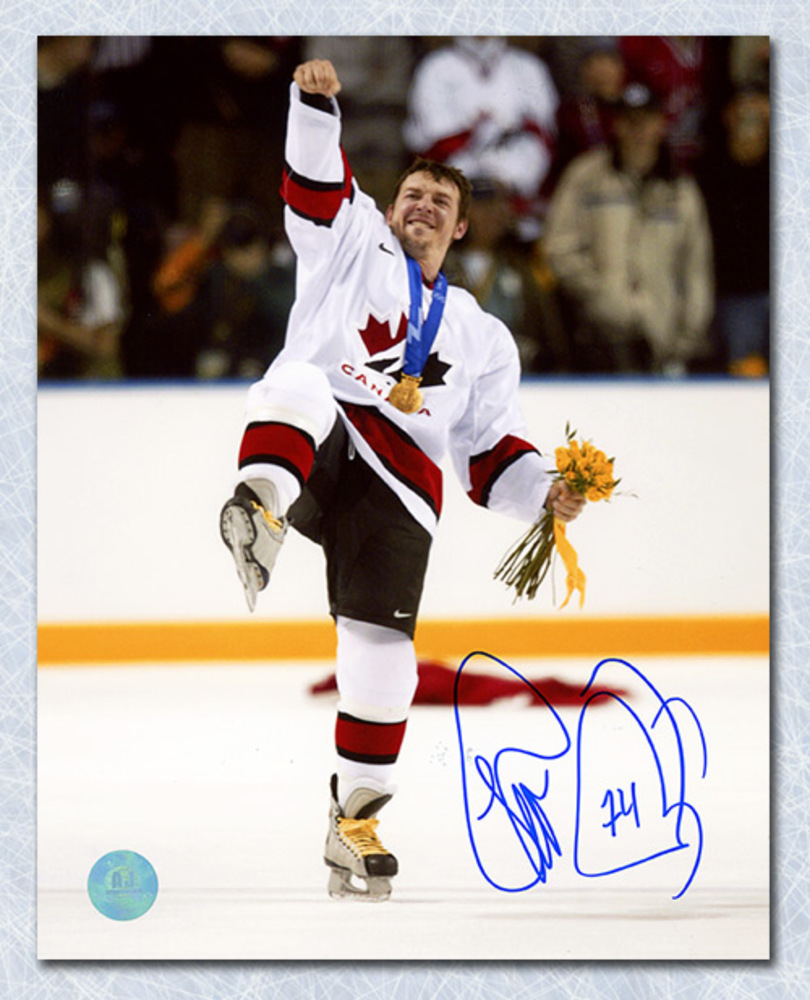 Theo Fleury Team Canada Autographed 2002 Olympic Gold 8x10 Photo