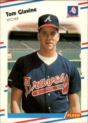 Photo of 1988 Fleer #539 Tom Glavine -- Atlanta Braves rookie card