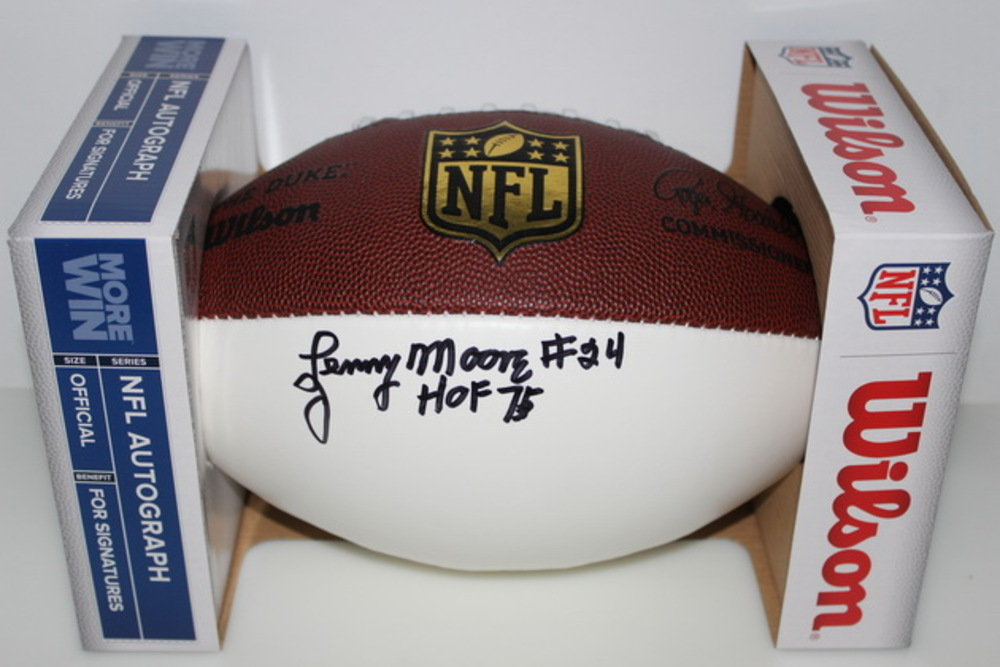 HOF - COLTS LENNY MOORE SIGNED PANEL BALL