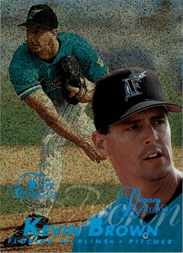 Photo of 1997 Flair Showcase Legacy Collection Row 0 #166 Kevin Brown