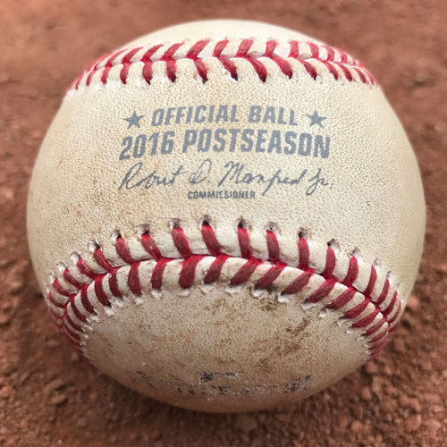 Photo of San Francisco Giants - 2016 NLDS Game 4 Game-Used Baseball - Giants vs Cubs - Buster Posey ground out off of Justin Grimm
